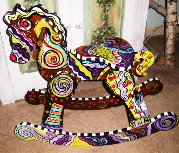 how to paint rocking horse