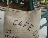 SALE - was 52 dollars Coffee Tote - medium - Free USA shipping
