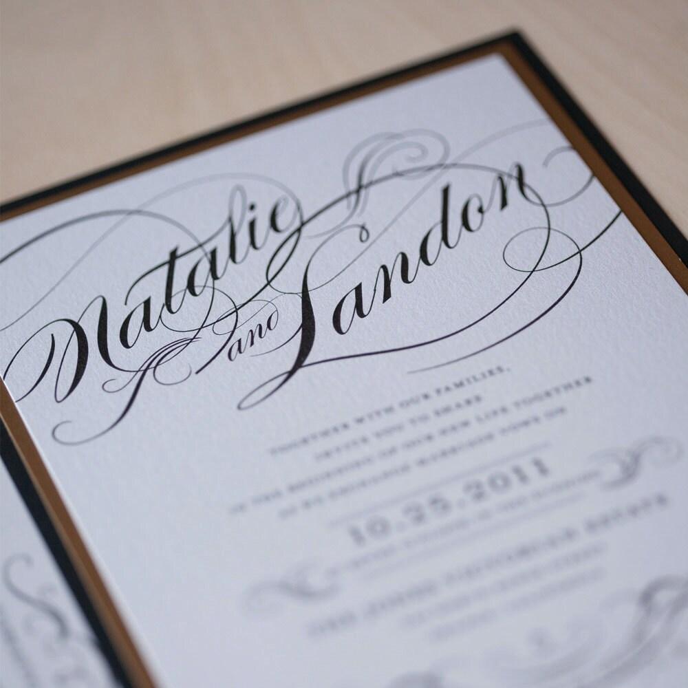 Wedding Invitation Handmade Glam Wedding Invitation Winter