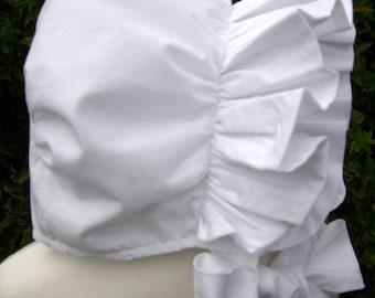 OOAK  Ruffled Baby Bonnet