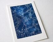 SALE // original watercolour painting // constellations // starry night sky // by natasha newton