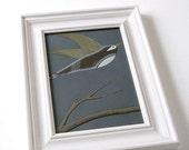 original framed painting . bird art . fly away home by natasha newton