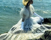 Vintage Inspired Wedding Dress - Crystal Beads - Aurora Borealis Finish - Lalik is OOAK Luxury Bridal and Fairy Tale Gown fully hand weaved