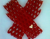 20 PERCENT OFF Bisous - Pair Of Long Mittens, Fully Handmade From Beads