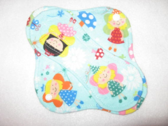 8 inch Cloth pantyliner with fairy print