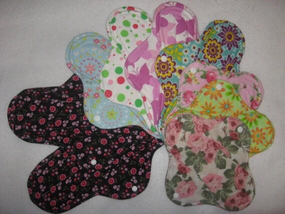 Cloth menstrual pads starter set