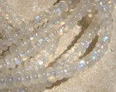 Rainbow Moonstone Polished Rondelle Beads 5mm  - Half Strand 8 inches