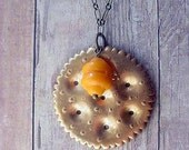 Cheese and Crackers. Pendant.  Cheez whiz.  Ritz.  Gift for Foodie. Silly Gift