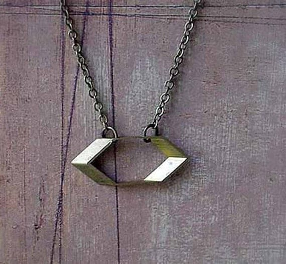 Hexagon Geometric Necklace