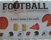 Football Lover Birthday Card for a Man  The Best of the Game  Handmade and Embellished