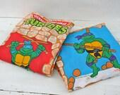 SALE Teenage Mutant Ninja Turtle - Pair of Vintage 1980s Curtain Panels Treasury Feature