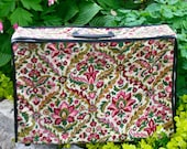 Vintage Tapestry Suitcase - Collapsable