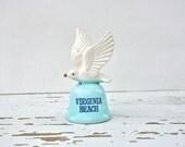 Vintage Ceramic Souvenir Bell - Virginia Beach Seagull