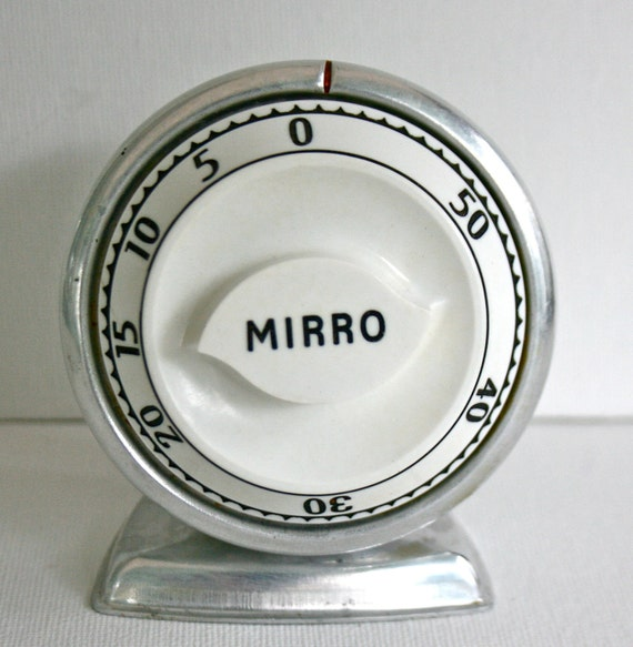 Vintage Mirro Lux Kitchen Timer Retro Aluminum By