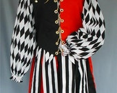 MADE TO ORDER Renaissance Jester / Foole Costume  - Men or Ladies, any size