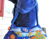 MARCELLE - A Bright and Cheery Felted Wool Handbag