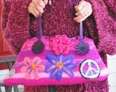 Woodstock PIizzazz  -  A Felted Handbag with Needle-Felting