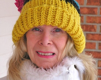 Knitted Barn Hat - Bees In Her Bonnet