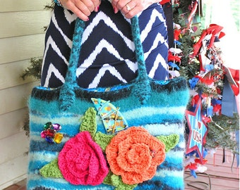 A Beautiful Felted Hand-knit Bag - The Johnny Bag