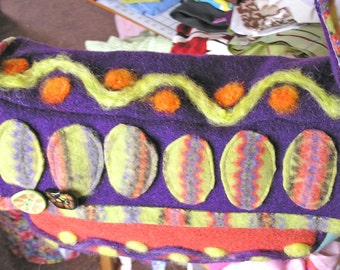 Kaleidoscope - A Vibrant Felted Wool Shoulder Bag