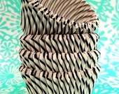 50 Black Striped Cupcake Liners-Vintage Inspired