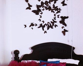 100 3D Butterfly Wall Art Circle Burst