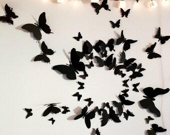 50 3D Butterfly Wall Art Circle Burst