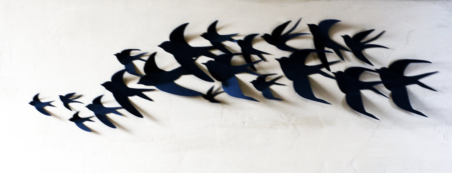 75 3d bird wall art