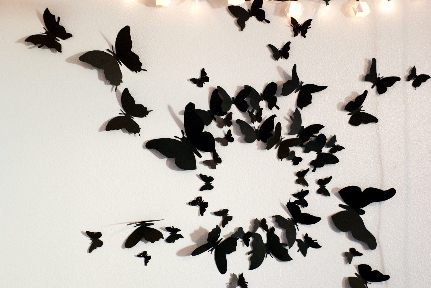 50 3d butterfly wall art circle burst. Black Bedroom Furniture Sets. Home Design Ideas