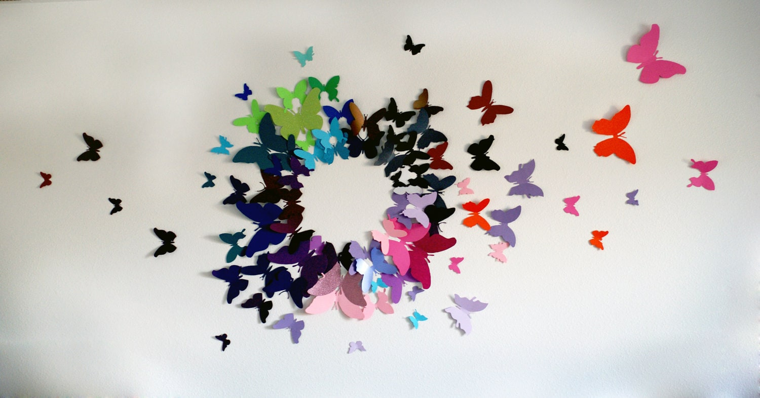 3d butterfly artwork images galleries with a bite - Butterflies wall decorations ...