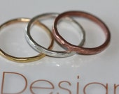 Sterling silver, copper and 14k gold-filled stacking rings