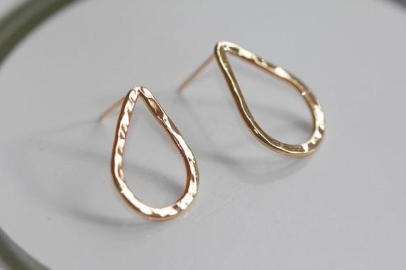 Raindrops post earrings/14k gold-filled