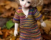 Knitted hoodie dress for Yo-SD