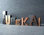 EUREKA - Vintage Letterpress Word