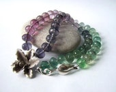 Rainbow Orchid - Fluorite and Thai Silver Necklace