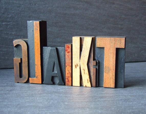 RESERVED for ROBTRIM - GLAIKIT - Scottish Letterpress Word