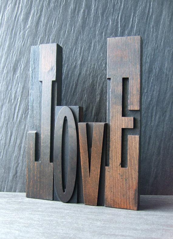 Monster LOVE - Gigantic Letterpress Word