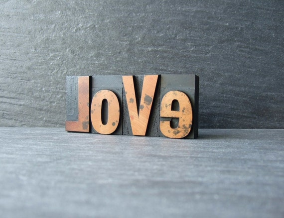 Little LOVE - Vintage Letterpress Word