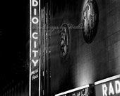 NYC Photographic Prints 8x10 Black and White Radio City Music Hall