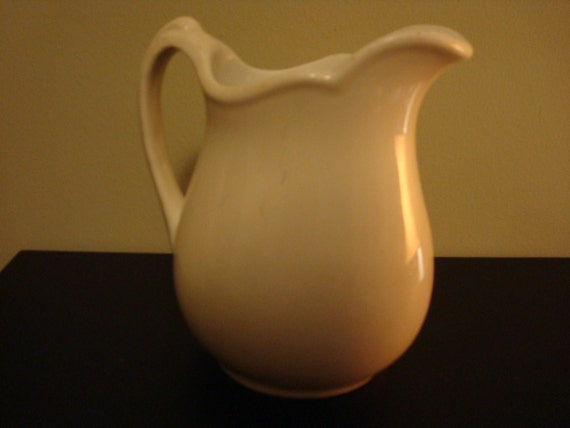 Vintage white ironstone pitcher