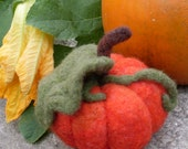 Needle Felted Medium Fall Pumpkin