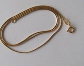 36 inch Gold Snake Chain Necklace 1mm with spring clasp