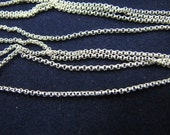 Bulk Unfinished 1.2mm Rolo Chain Sterling Silver 10 feet or 120 inch on spool