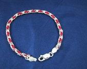 Original Kabbalah Red String Bracelet Sterling Silver 7 inch