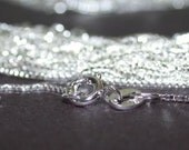 10 sterling silver chains 16 inch box 1mm with spring clasps wholesale