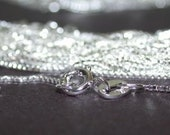 4 X Sterling Silver Box Chain 18 inch Necklaces 1mm Sterling Silver