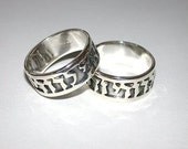2 pcs Wedding Ring Set in Sterling Silver