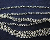 30 feet Sterling Silver Fine Cable Chain 1X1.5mm bulk on spool unfinished
