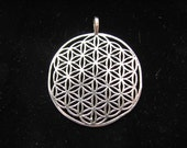 Flower of Life Pendant Sterling Silver Extra Large, Authentic