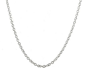 16 inch Sterling Silver 2mm Rolo Chain with Lobster Clasp